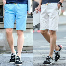 Mens Casual Modern Cotton Pants Baggy Shorts Pockets Cargo Summer Trousers