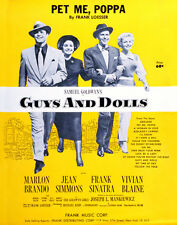 Guys and Dolls Frank Sinatra Marlon Brando Jean Simmons Artwork Poster or Photo