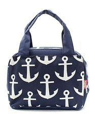 Navy Anchor Insulated Lunch Tote Bag-- Lunch Bag-Back to school Item!
