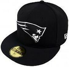 New Era NFL New England Patriots Black White 59fifty Fitted Cap Limited Edition