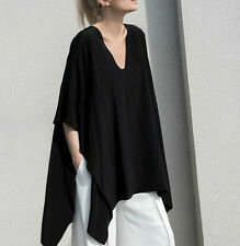 New Women Summer Cotton Loose Bat Sleeve Blouse  Casual Tops T-Shirt Plus Size