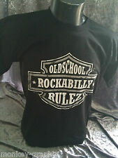 Old school Shirt / Rockabilly Rulez Biker Retro Vintage USA Iconic T-Shirt Cash