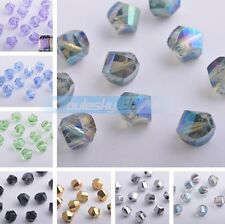 20pcs 10mm Helix Twist Faceted Glass Crystal Loose Spacer Beads DIY Findings
