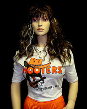 HOOTERS UNIFORM COWBOY SHIRT SHORTS SOCK PANTYHOSE nametag Cowgirl