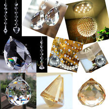 Multi Type Chandelier Lamp Crystal Clear Faceted Hanging Ball Prism Pendant Part