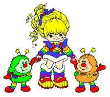 "5""-8.5"" RAINBOW BRITE SPRITE WALL SAFE STICKER BORDER CUT OUT CHARACTER"