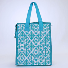 Turquoise Twist Insulated Lunch Tote Bag-Lunch Bag