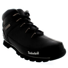 Mens Timberland Euro Sprint Black Outdoor Trekking Leather Hiker Boots All Sizes
