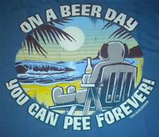 On Beer Day Pee Forever Big Dogs Tee Shirt Large 2X 3X 4X 5X 6X Cotton Denim