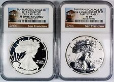 2012-S $1 San Francisco American Silver Eagle Set NGC PF69 **Early Releases**