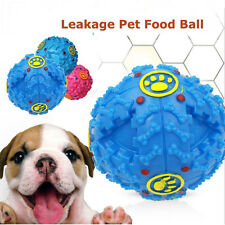 Training Dogs Ball Food Dispenser Durable Chew Toy Squeaky Giggle Quack Sound US