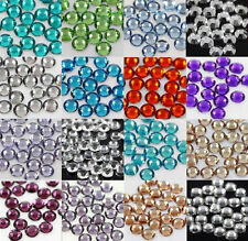500 x GLUE ON FLAT BACK 6mm RHINESTONE CRYSTAL *40 COLOURS* GEMS CRAFTS NAILART