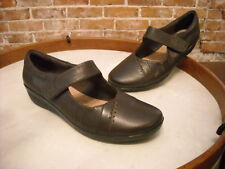 Clarks Brown Leather Everlay Daphne Mary Jane Shoe NEW