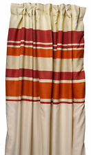 Tango Striped Fully Lined Pair of Curtains Ready Made Pencil Pleat Home Décor