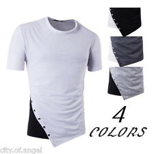 Stylish Mens Tee Basic Shirts Slim Fit Crew Neck Short Sleeve Muscle Casual Tops