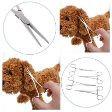 Dog Cat Ear Cleaning Forceps Pliers Steel Pet Clamp Tweezers Haemostatic Tool