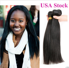 Unprocessed Hair 100% Human Virgin Hair Extensions Weft Straight Weave 3 Pc 150g