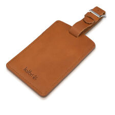 Genuine Leather Luggage Tag Name Address ID Suitcase Baggage Travel Tag