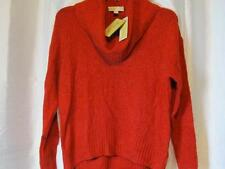 NWT Michael Kors Red Cowl Neck Long Sleeve Soft Wool Sweater Sz S L Org $89.50