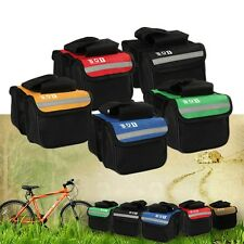 Cycling Bicycle Bike Top Frame Front Pannier Saddle Tube Bag Double Pouch GH