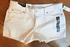 GAP Womens NEW White Boyfriend Sexy White Stretch Denim Shorts NWT-MSRP-$44