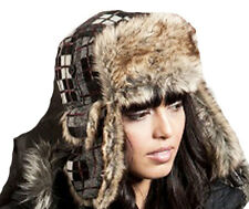 New Mens Womens Unisex RADFORD Check Fur Trimmed Warm Thermal Winter Trapper Hat