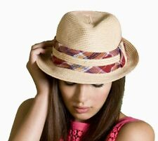Ladies Crushable Packable Straw Trilby Style Summer Fashion Sun Hat