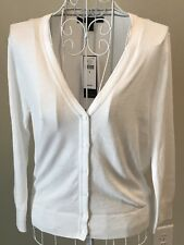 Banana Republic Womens Cardigan White Lightweight Super Soft NEW-MSRP-$49