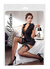 Tights black mesh Stockings woman Cottelli Collection Hold-Up Stockings Bl