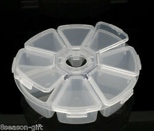 Wholesale Lots Gift Round Clear Beads Display Storage Case Box 11cm Dia.