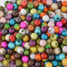 """Wholesale Lots Gift Mixed Miracle Acrylic Round Spacer Beads 6mm(1/4"""")"""