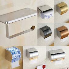 Stainless Steel Bathroom Toilet Wall Mounted Paper Roll Tissue Box Holder 8 Type