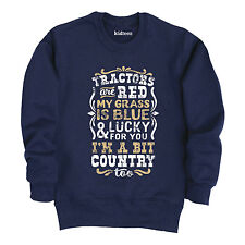 Tractors Are Red Grass Is Blue - Toddler Crew Fleece