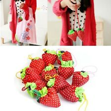 1/5/10/ Lot Foldable Strawberry Reusable Recycle Carrier Tote Bag Shopping Bags