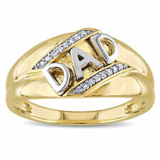 Miadora 10k Yellow Gold Diamond Accent Mens Dad Ring