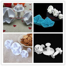 Two Style Maple Leaf Fondant Cake Mold Biscuit Cookie Gum Paste Mould Tools 3pcs