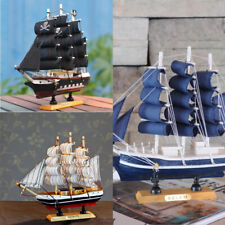 9.5'' Wooden Ship Assembly Model Classical Scale Pirate Sailing Boat Decor