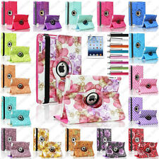 Leopard Flower Map Dot 360 Rotate Leather Case Smart Cover For iPad Mini 1 2 3