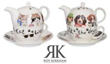 Roy Kirkham Animal Fashion Cat or Dog Tea For One Teapot with Cup and Saucer
