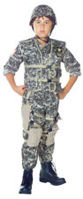 Child Boys Us Army Ranger Deluxe Military Costume Camouflage Soldier Halloween
