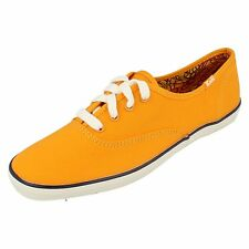 Ladies Keds Yellow (orange)Canvas Shoes Champ ox