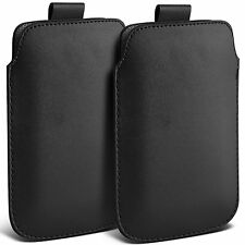 Twin Pack PU Leather Pull Tab Case Cover Pouch For Motorola Moto E 2nd Gen