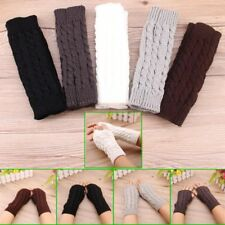 1 Pair Women Short Twist Arm Warmer Fingerless Knitting Wool Mittens Gloves