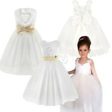 Princess Kid Communion Wedding Bridesmaid Pageant Party Tutu Flower Girls Dress
