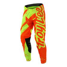 Troy Lee Designs GP Off-Road Pants - Shadow Flo Yellow/Orange - YOUTH Size 18-28