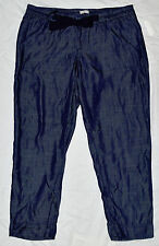 Gap Maternity NWT Blue Chambray Denim Cropped Capri Elastic Pants XXL $60