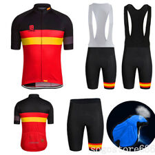 Men Sports Cycling Jersey Shorts Set Bike Bicycle Short Sleeves BiB Wear Suits