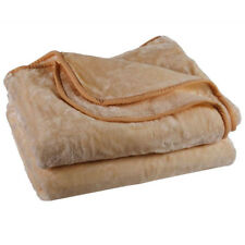 One Ply Solid Mink Plush Super Soft Throw Queen Size Blanket 5 lbs