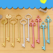 Wholesale Key Shaped Black Ink Pen Roller Ball Point Pen Office Stationery Gift