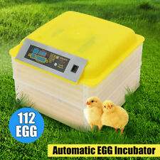 112 Digital Eggs Incubator Hatching Automatic Turner Temperature Control Poultry